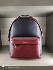 Michael Kors Mens Large Russel  Leather Backpack Navy/Red Rouge RRP £390.00