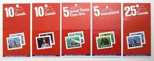 Canada x 5 Definitive 1988-89 Booklets. $2.20 to $9.50. MNH