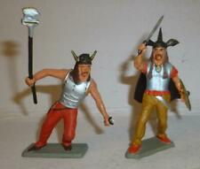TWO RARE FRENCH STARLUX VINTAGE PLASTIC GAULS, 60mm SCALE  - 1960'S