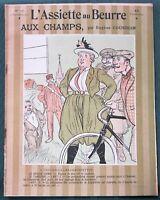 L'Assiette au Beurre #128 Aux Champs - Country Bumpkins 1903 French Satire Art