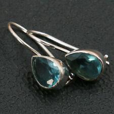 Blautopas Ohrhänger echt Silber 925 Ohrringe Tropfen Sterlingsilber blau hvts