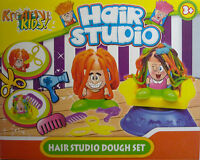 Kreative Kids Hair Studio Play Dough Set  (4 Tubs Of Dough, 2 Figures) 17 pieces
