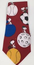 Snoopy Peanuts MVP Baseball Golf Soccer Sports Tie Coaches Gift Licensed Necktie
