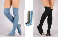 Bamboo Over The Knee Long Sandal Flat Boots #Cure-09