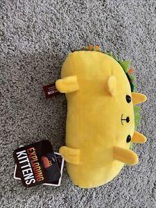 "2018 Exploding Kittens Taco Cat ""Tacocat"" 7"" Plush Stuffed Toy/Animal-EXCELLENT!"