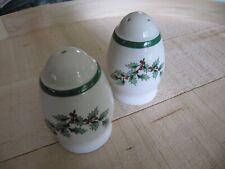 Made in England Spode CHRISTMAS TREE  Salt + Pepper shakers