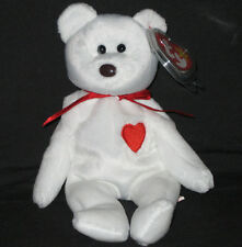TY VALENTINO the BEAR BEANIE BABY - MINT with TAG - SEE PICS