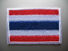 THAI FLAG Small Iron On / Sew On Cloth Patch Badge Appliqué Thailand ธงไตรรงค์