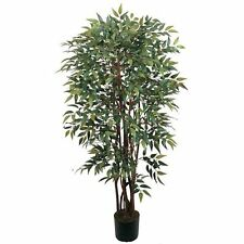 Decorative Natural Looking Artificial Potted 4' Similax Silk Tree Faux Plants