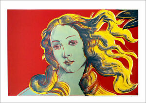 Andy Warhol Birth of Venus Red Offset Lithograph 27-1/2 x 39-1/2