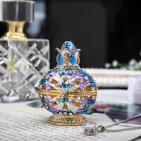 Handmade Crystal Metal Floral Trinket Boxes Figurines Jewelry Wedding Lady Gifts