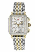 Michele Deco Diamond Two Tone Gold MOP Dial MWW06P000108 Ladies Watch