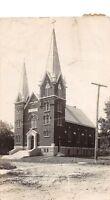 D47/ Mapleton Minnesota Mn Photo RPPC Postcard c1910 Evalgelical Lutheran Church