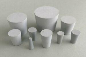 Gummistopfen Naturkautschuk Laborstopfen konische Verschlußstopfen grau Stopfen