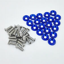 20Pcs Blue OEM Billet Aluminum Fender/Bumper Washer/Bolt Engine Bay Dress Up Kit