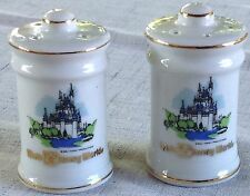 Vintage Porcelain Walt Disney World Salt Pepper Shaker Set Japan Never Used