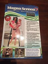 MAGNA SCREEN™ DOOR 20 MAGNETS MAGNETIC MAGIC HANDS FREE MESH INSTANT AS SEEN TV