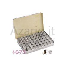 Box con 54 scatole in alluminio per archiviazione minuteria componenti orologiai