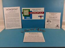 Vintage Monopoly Game Pieces Classic 10 Tokens Rules 1954 1961 Parts