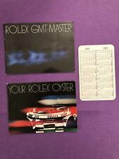 Rolex GMT-MASTER Kit anni 80 Corredo Rare Kit Booklet+Your Rolex+Calendar