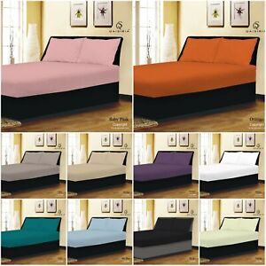 Extra Deep 25cm Fitted Sheets Bed Sheets Single Double King Super King Size