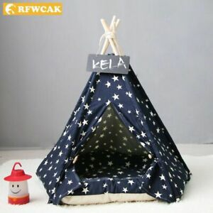 Pet Tent Animal Dog Cat Outdoor Indoor Cushion Comfortable Washable Portable Bed