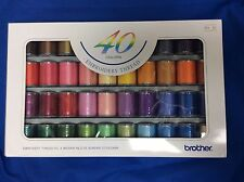 Genuine Brother Embroidery Machine Thread, 40 Colours, 300 metres each, B244
