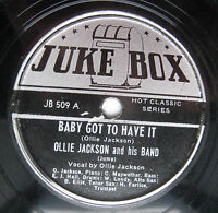 OLLIE JACKSON & HIS BAND baby got to have it you'll miss me when I'm gone 78 w30