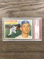 1956 Topps Roger Craig PSA 8 #63 White Back Brooklyn Dodgers