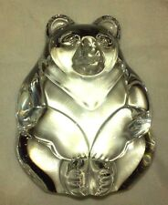 STEUBEN Glass BEAR Hand Cooler | Signed Crystal Paperweight | Christmas Present