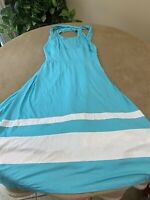 Venus Women's Size Small Sleeveless Blue Summer Dress Fit & Flare