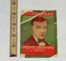 """Tiny Rare 1920s """"The Mystery Movie Drawing Book"""" Featuring Buster Keaton Germany"""