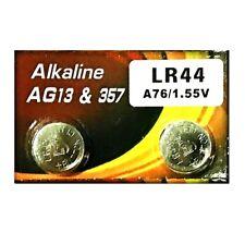 VSAI AG13 SR44SW LR44 A7a6 GP76A 357 Button Alkaline Battery (2 Pieces)