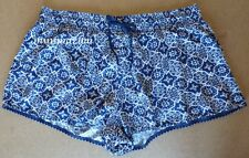 M&S COLLECTION Beachwear Navy Mix Patterned Shorts Size 18 Elasticated waistband