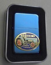 Benzin Feuerzeug mit Emblem 75 Jahre Eicher Traktoren in Blechdose 271