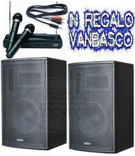 "SISTEMA IMPIANTO KARAOKE COMPLETO casse amplificate 900w 10""  microfoni wireless"