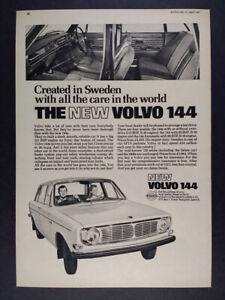 1967 Volvo 144 vintage print Ad