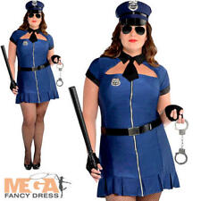 Sexy Cop UK 18-20 Ladies Fancy Dress Uniform Adults Womens Plus Size Costume New