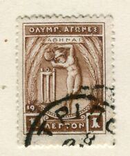GREECE; 1906 early Olympic Games issue fine used 1l. value