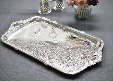 Vintage Silver Plated Rectangle Tray Integral Handle Made in UK GIFT SALE