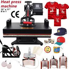 8 in 1 Digital Heat Press Machine Transfer Sublimation for T-Shirt Mug Hat Print