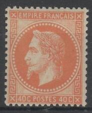 "FRANCE STAMP TIMBRE 31 "" NAPOLEON III  40c  ORANGE 1868 ""  NEUF x TTB SIGNE P043"