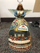 Jim Shore Angel Do This in Remembrance of Me Figurine Jesus Last Supper 10""