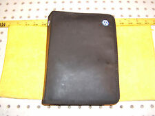 VW 2001 Jetta 4d owner manual's Genuine OEM 1 Booklet with BLACK outer VW 1 Case