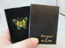Hills butterfly brooch Vintage Ronte of Beverly