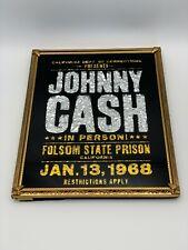 Johnny Cash Carnival Foil Mirror Folsom Prison Flyer Country Outlaw Blues Gospel