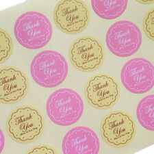 Thank You Oval Seal Labels, Stickers for Gift Wrap, Envelopes Bags Cards 48x