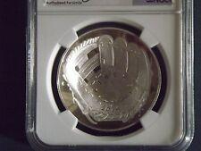 2014 Baseball Hall of Fame S$1 NGC PF 70 ER with original mint box + COAs