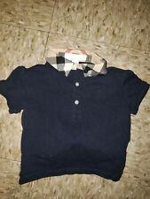 Black Burberry Infant Polo Size 12m Authentic