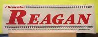 "Unused Preowned ~ Original ""I Remember Reagan"" Ronald Reagan 11"" Bumper Sticker"